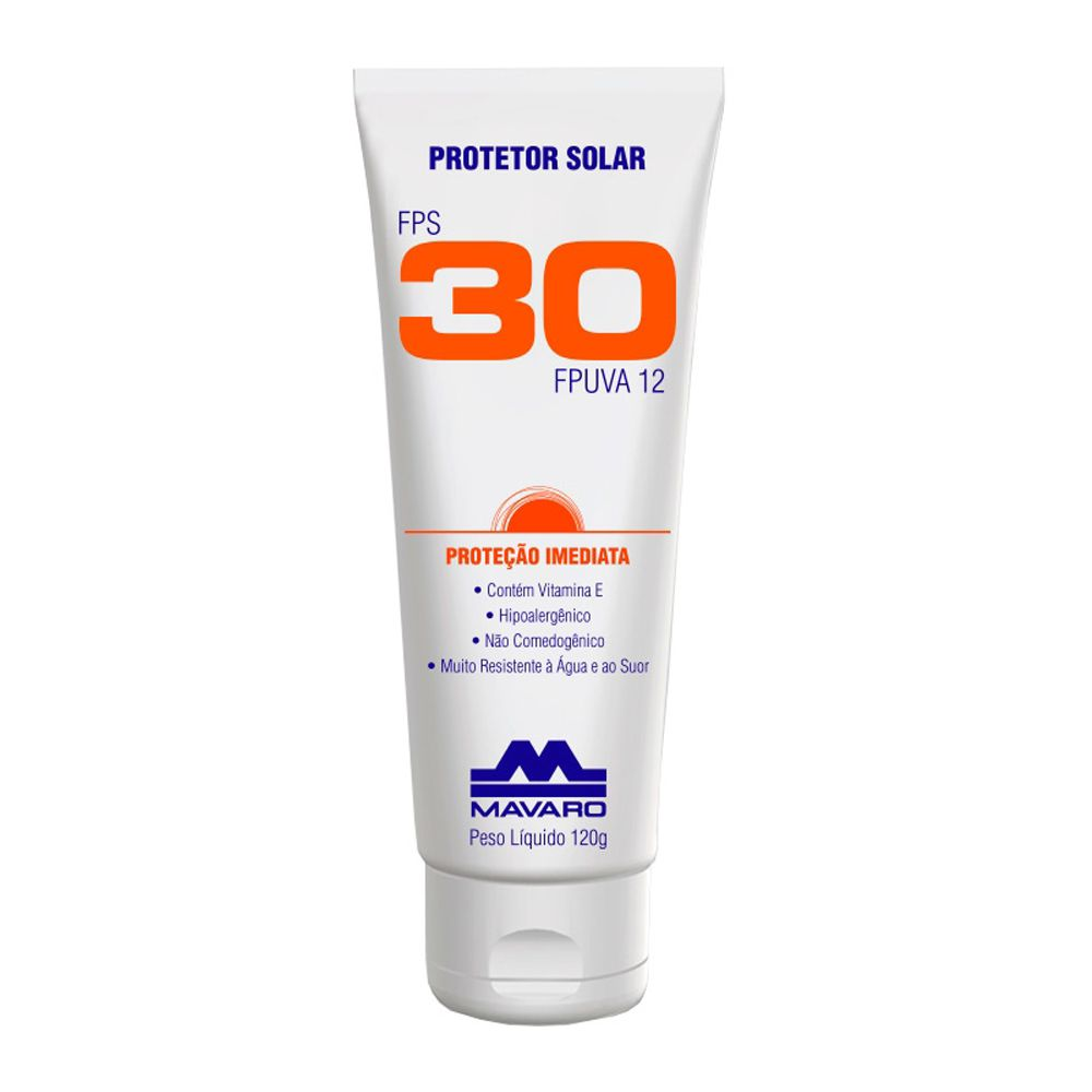 Protetor Solar Mavaro Fps 30 120g