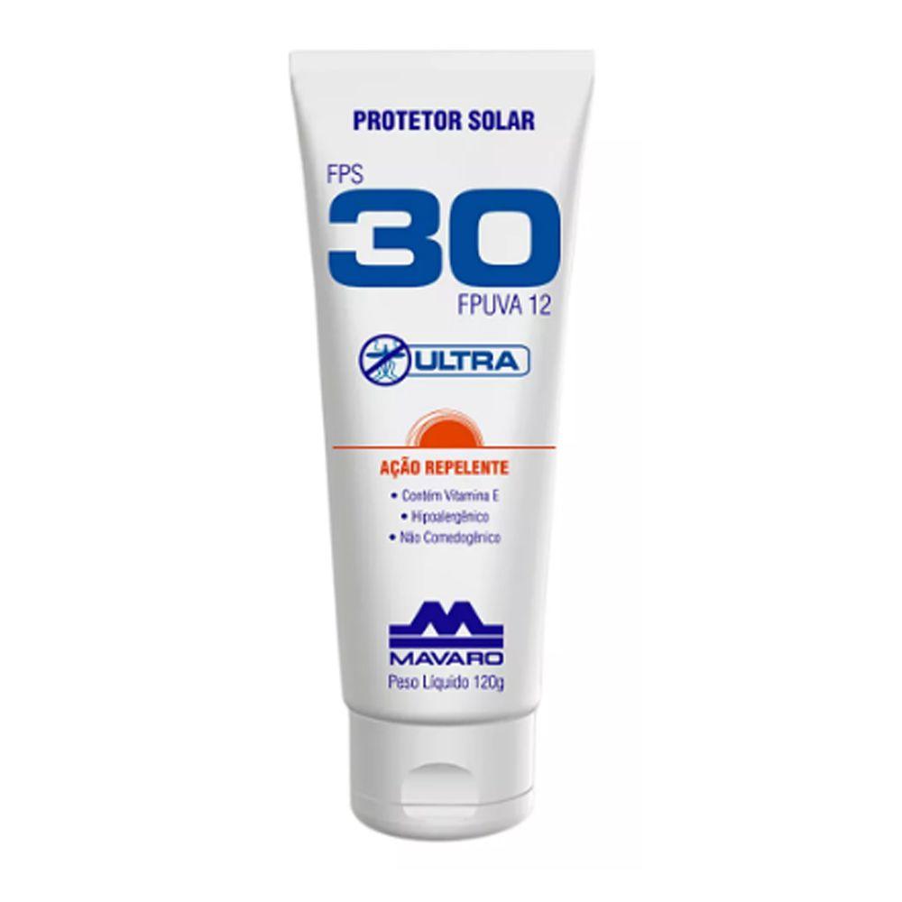 Protetor Solar Mavaro Fps 30 Com Repelente 120g
