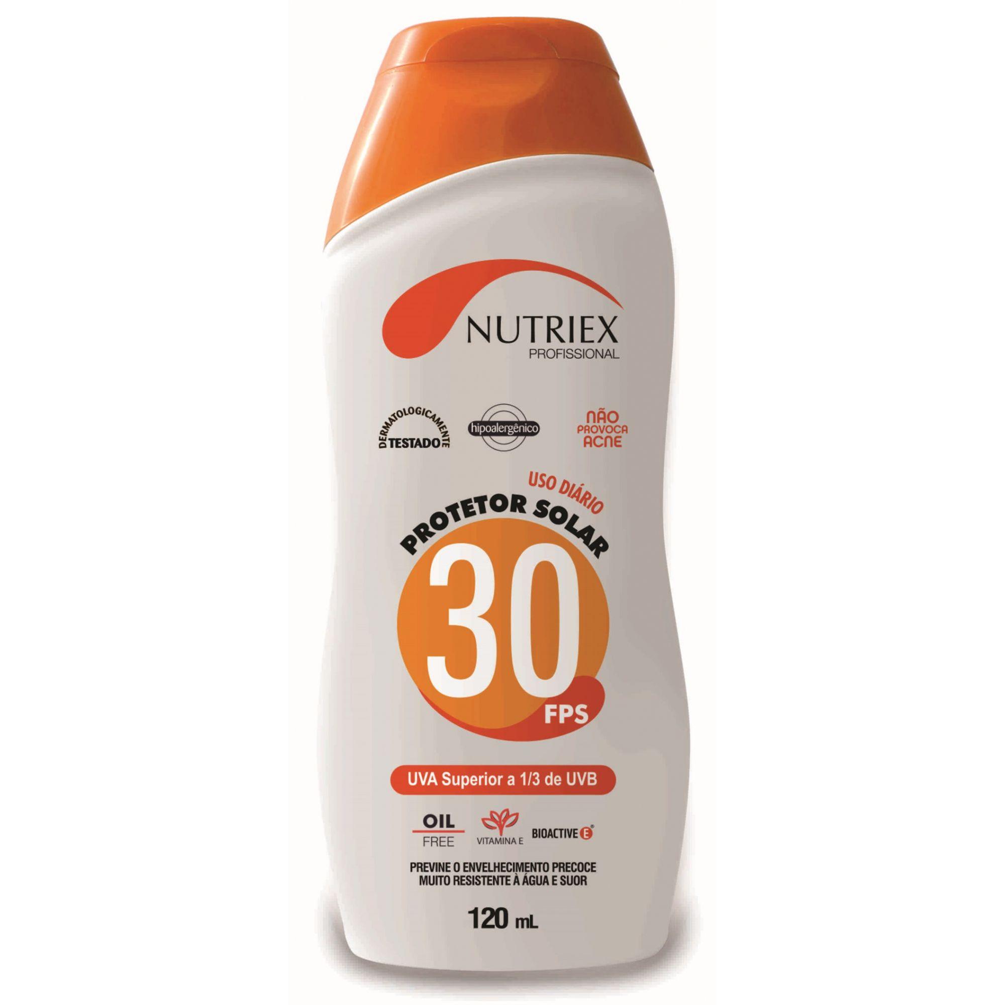Protetor Solar Nutriex Fps 30 Bisnaga 120 ml