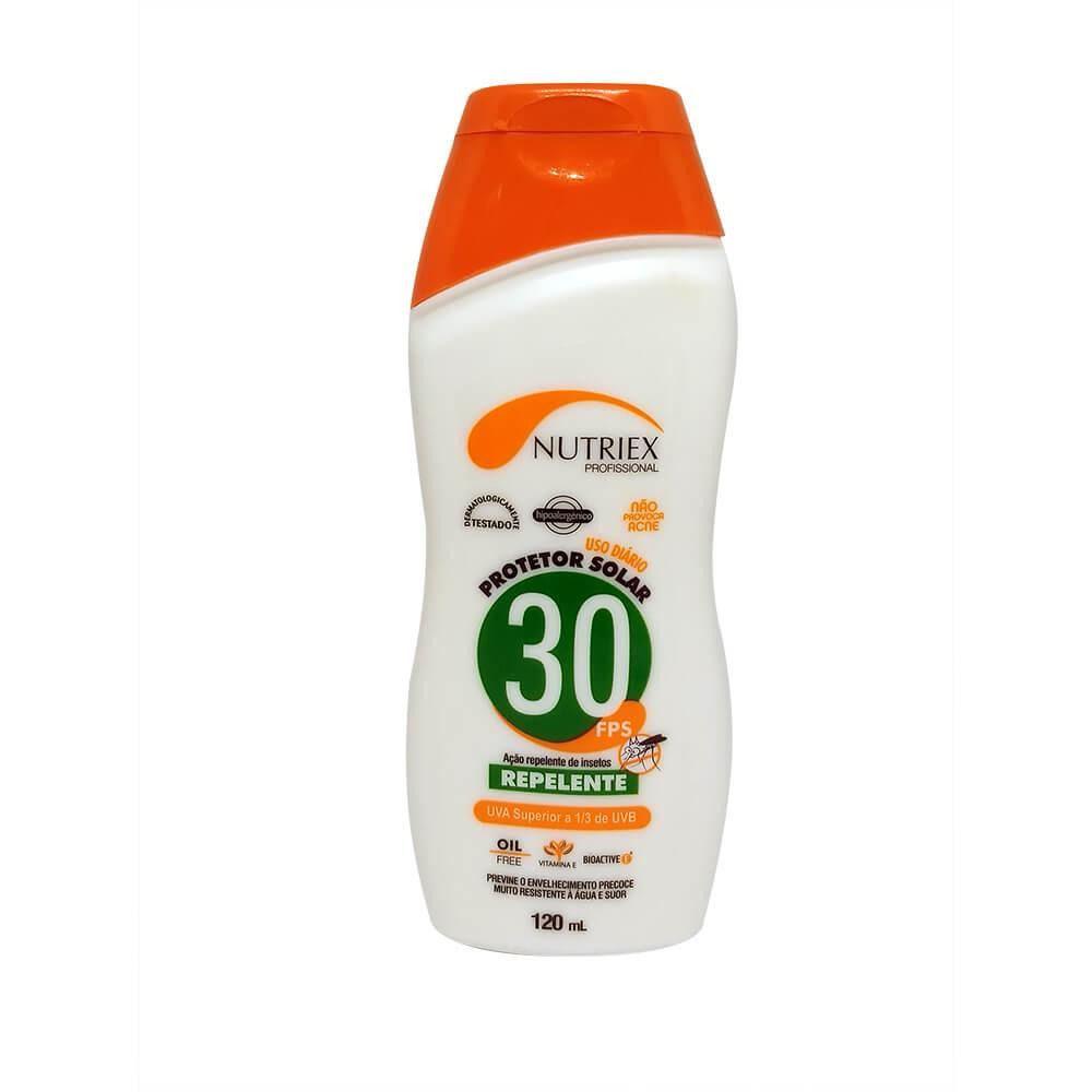 Protetor Solar Nutriex Fps 30 Com Repelente Bisnaga 120g
