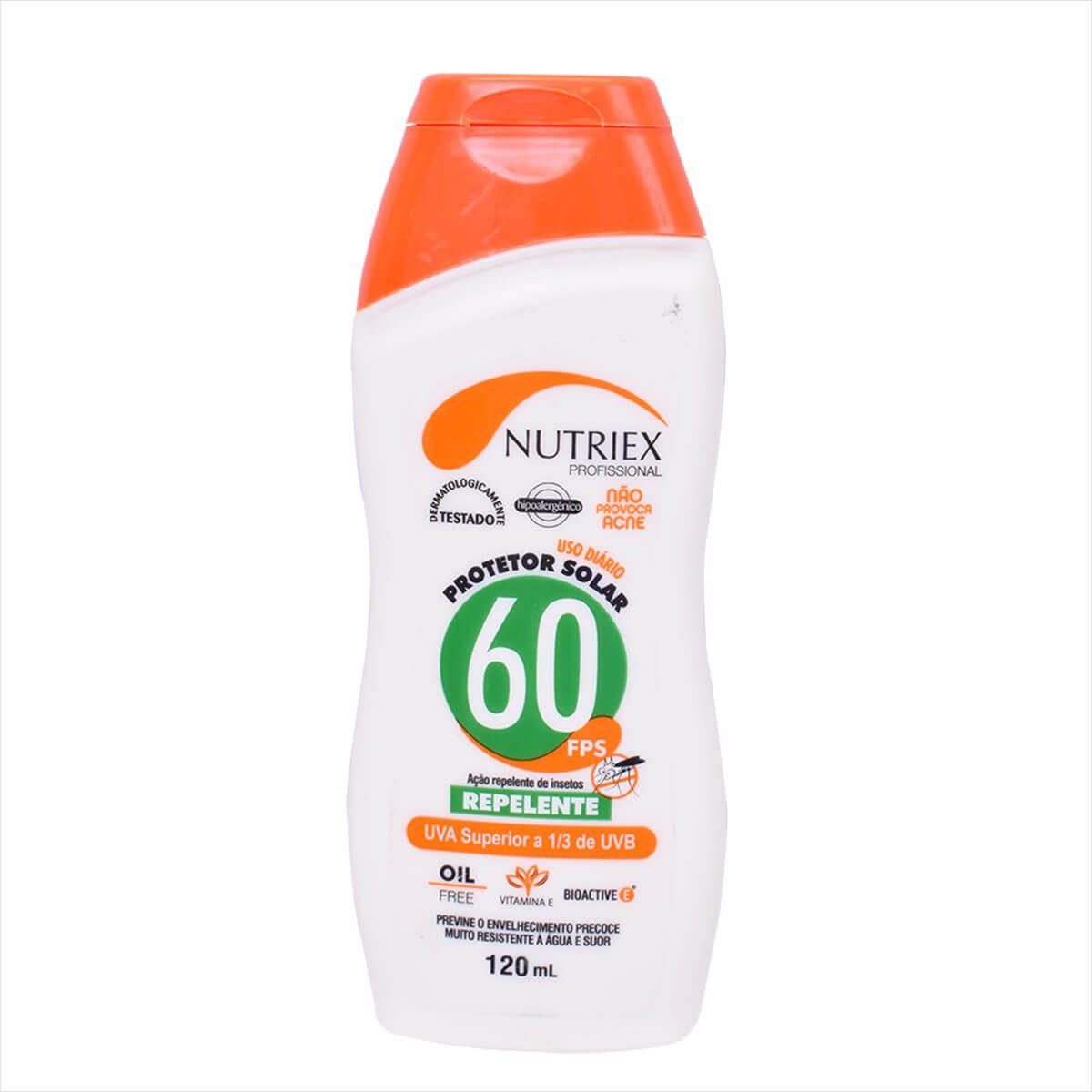 Protetor Solar Nutriex Fps 60 Com Repelente Bisnaga 120g