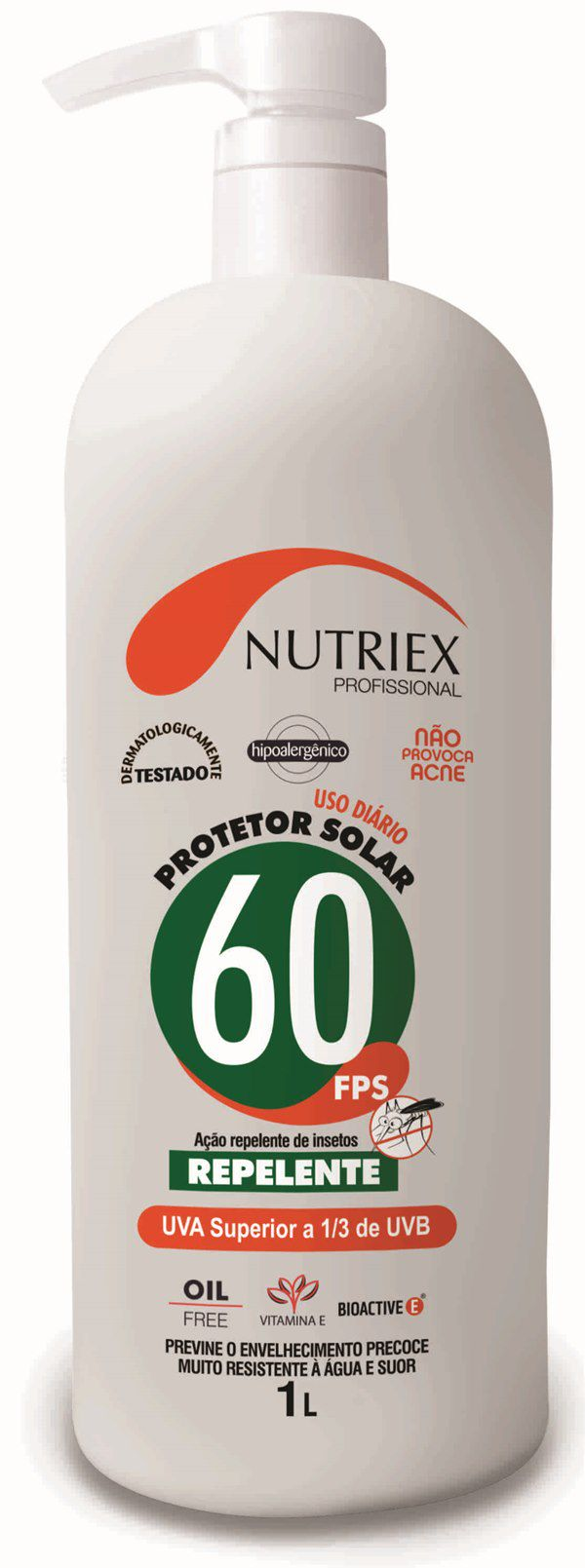 Protetor Solar Nutriex Fps 60 Com Repelente Galão 1Litro