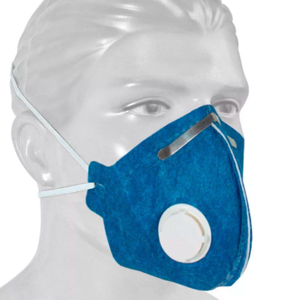 Respirador Descartável Camper Pff2 Vo Carvão Ativado Com Vávula - 20 Unid.