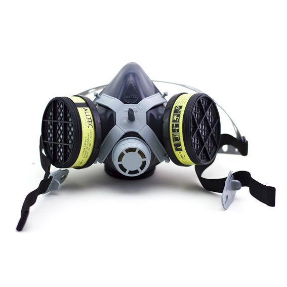 Respirador Semi Facial Destra Mig 12 Com 2 Filtros VoGa + Pre Filtro P2 + Tampa Acoplar