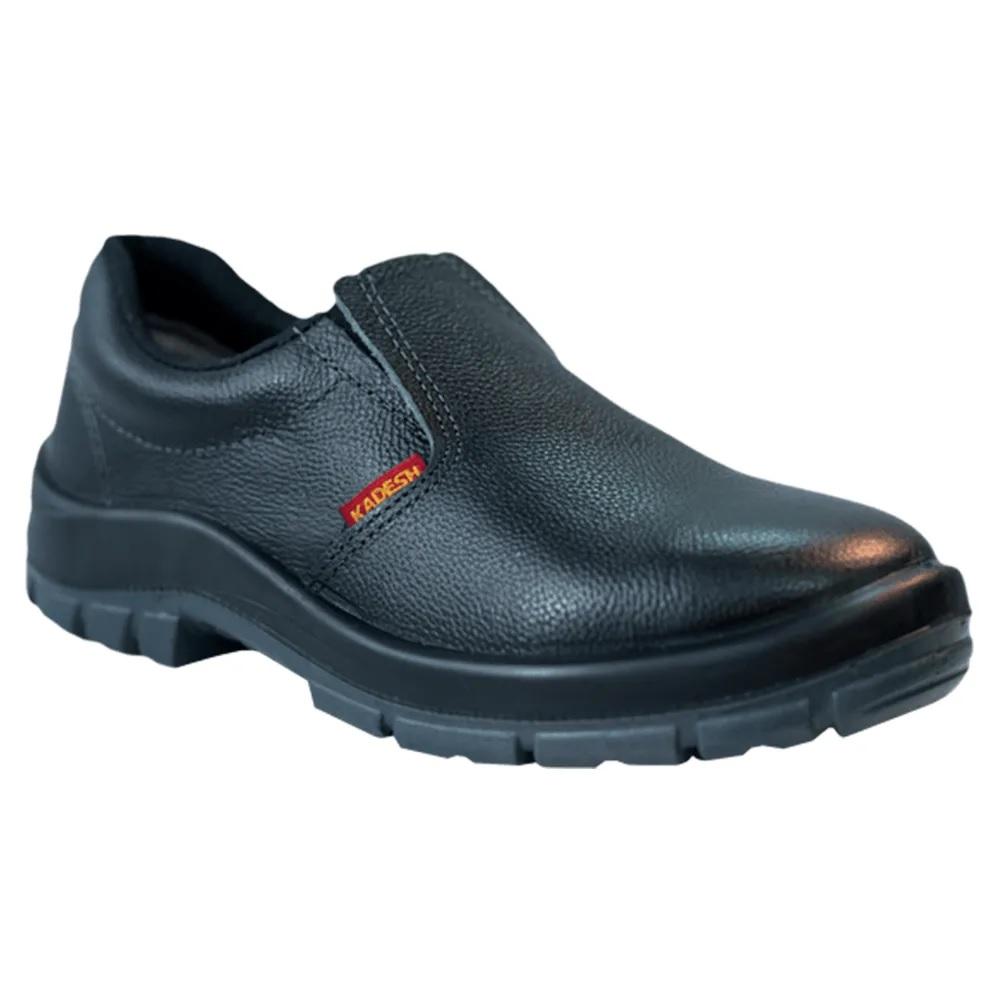 Sapato Elástico Flex Kadesh Bico Pvc Preto