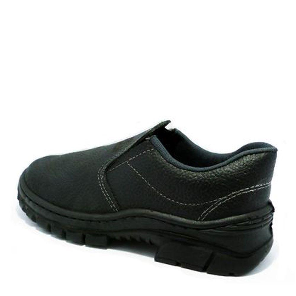 Sapato Elástico Imbiseg Com Bico de Aço Preto