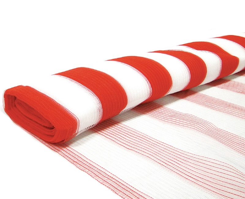 Tela Sinalização Guarda Corpo 1,20 x 50 Laranja e Branca