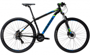 Bicicleta Groove Zouk HD 21V Preto/Azul/Verde