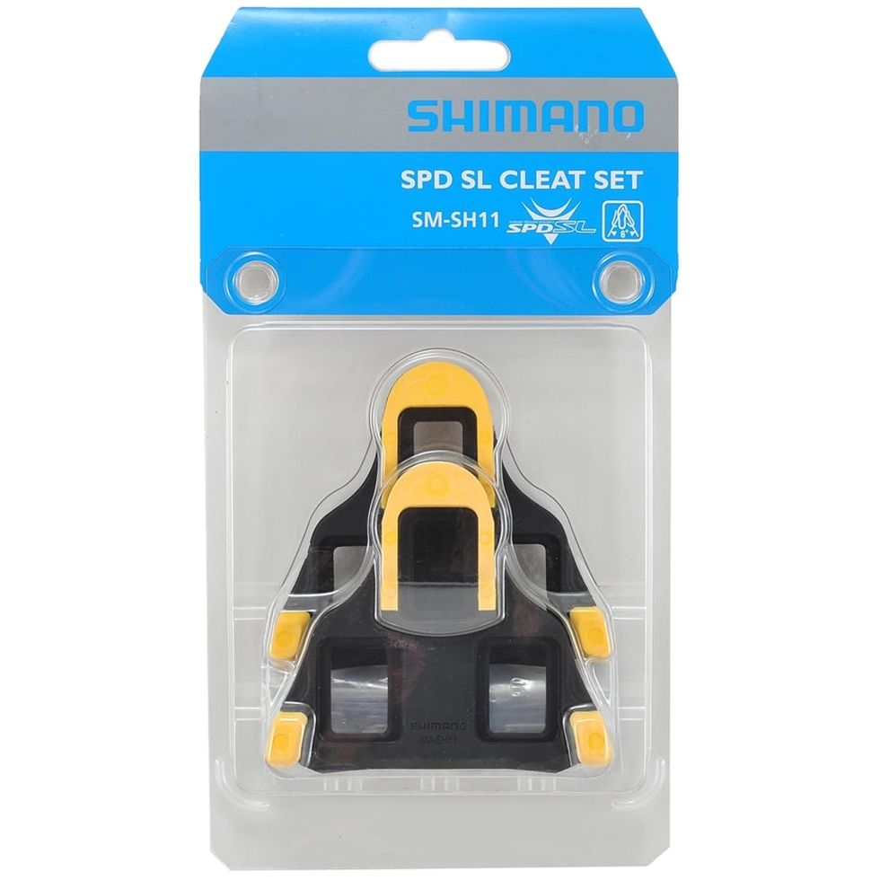 Taco Pedal Shimano SPD SM-SH11 6 graus Amarelo