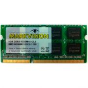 Memória Notebook Markvision DDR3 4GB 1333Mhz