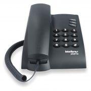 Telefone Intelbras Com Fio Pleno Preto
