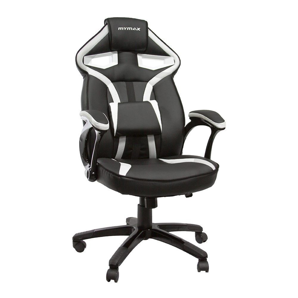 Cadeira Gamer Mymax MX1 Giratória Preto/Branco  - Líder Brasil Informática