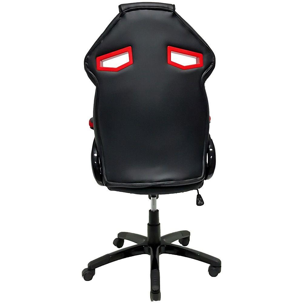 Cadeira Gamer Mymax MX1 Giratória Preto/Vermelho  - Líder Brasil Informática