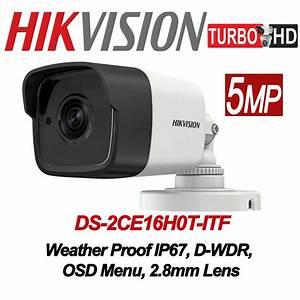 Câmera Hikvision Ds-2ce16h0t-itf Bullet 5mp 2,8mm 20m Full  - Mega Líder Distribuidora