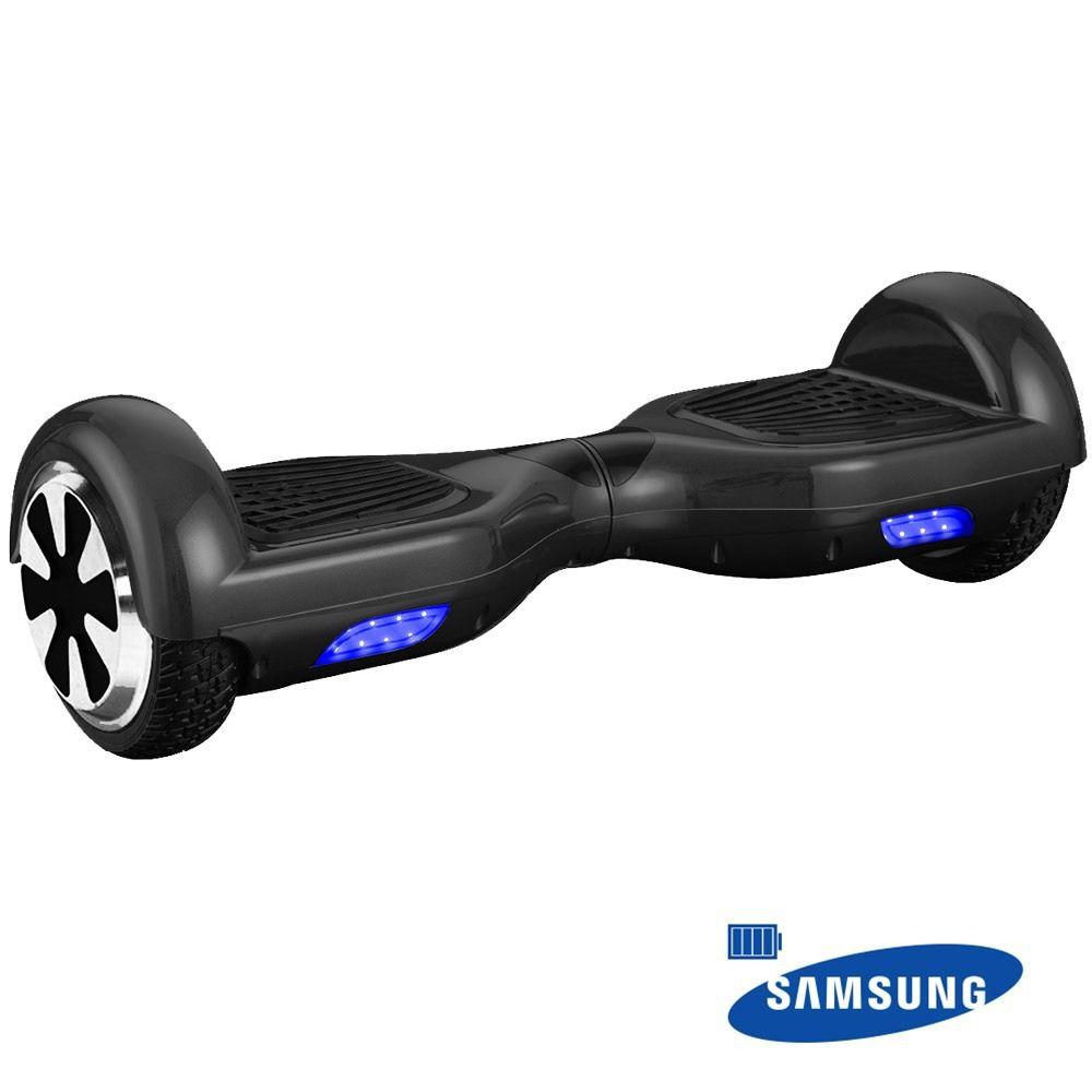 "Hoverboard Scooter Mymax Smart Balance 6.5"" Preto Bateria Samsung  - Mega Líder Informatica"