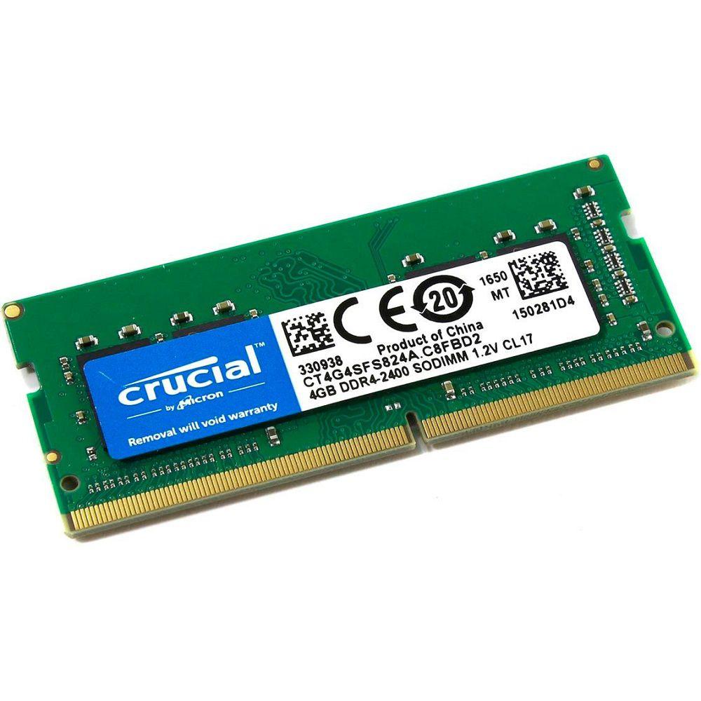 Memória Notebook Crucial DDR4 4GB 2400Mhz  - Mega Líder Informatica