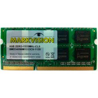 Memória Notebook Markvision DDR3 4GB 1333Mhz  - Líder Brasil Informática