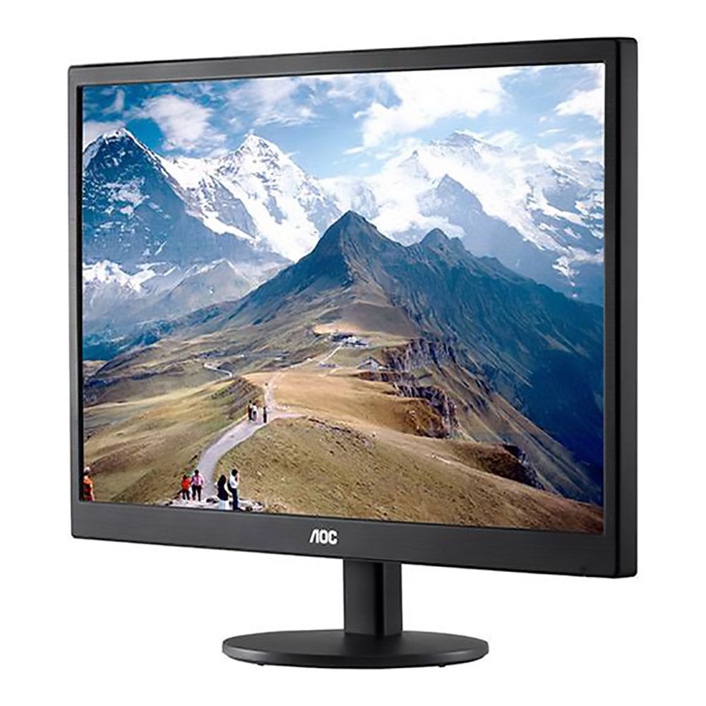 "Monitor AOC LED 21.5"" E2270SWN Widescreen, Full HD, VGA  - Líder Brasil Informática"