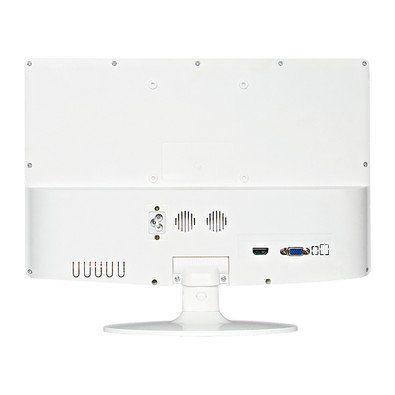"Monitor PCTOP LED 15.6"" MLB156HDMI Branco  - Líder Brasil Informática"