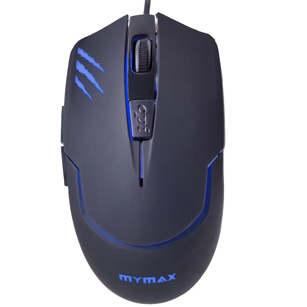 Mouse Gamer Mymax Tiger 2400 DPI Preto com Led 4 Cores  - Líder Brasil Informática