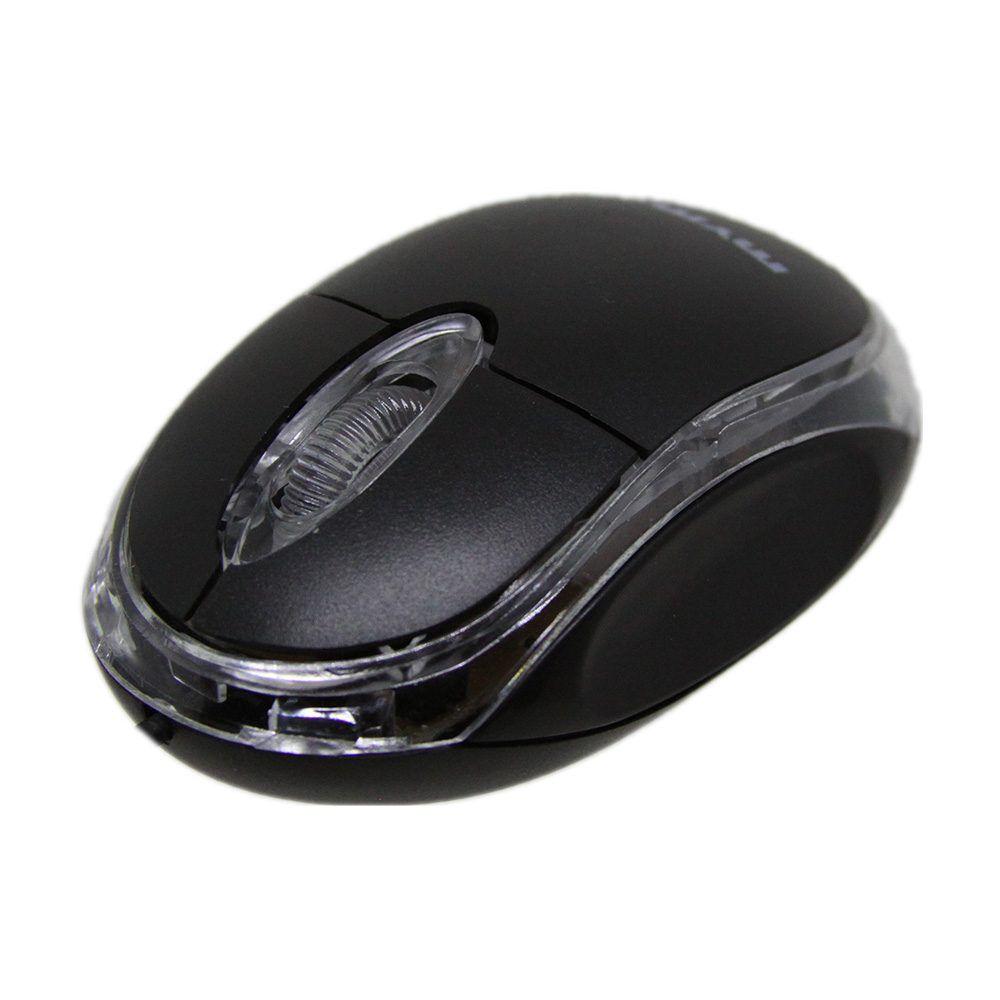 Mouse Mymax Óptico Neon USB Preto  - Líder Brasil Informática