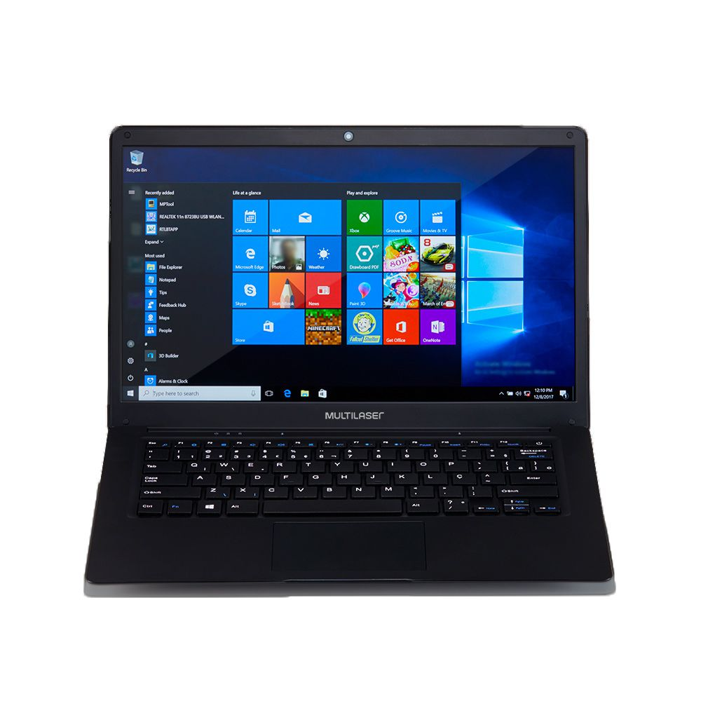 "Notebook Multilaser Legacy 14,1"" PC208 4GB 32GB Full HD Windows 10 Preto  - Líder Brasil Informática"