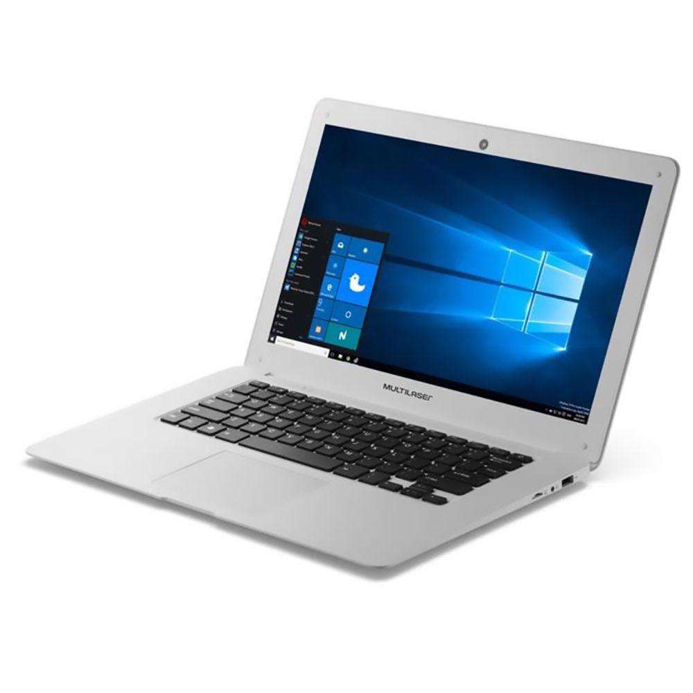 "Notebook Multilaser Legacy 14"" PC102 2GB 32GB Windows 10 Branco  - Líder Brasil Informática"