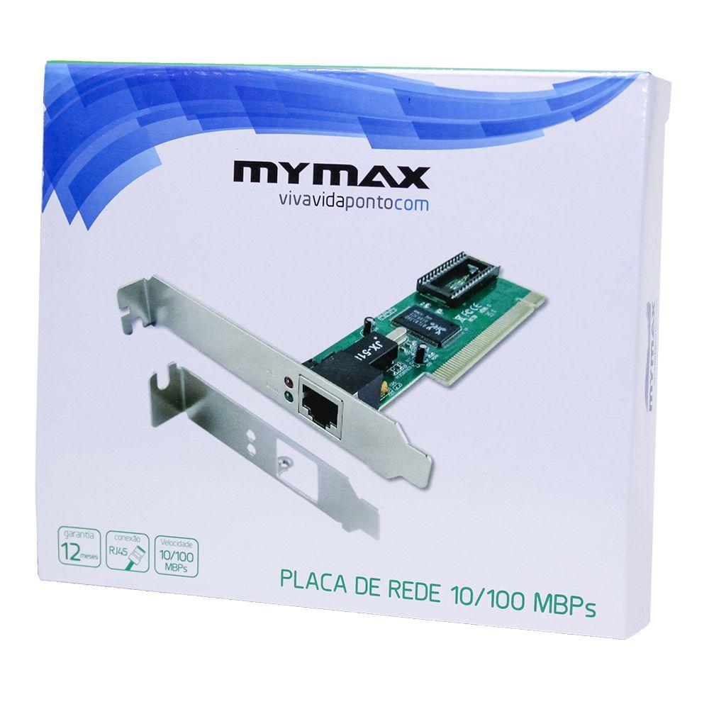 Placa de Rede Mymax PCI Chipset Realtek 10/100Mbps  - Líder Brasil Informática
