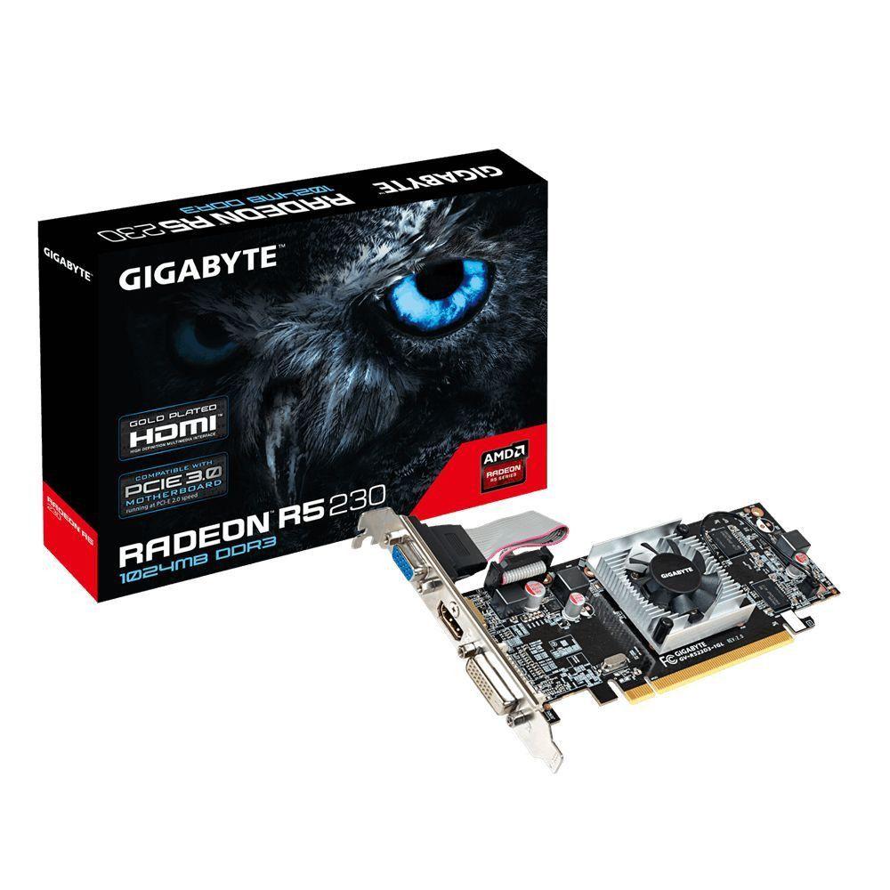 Placa de Vídeo Gigabyte Radeon R5 230 1GB DDR3  - Líder Brasil Informática