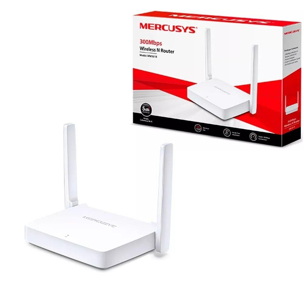 Roteador Wireless Mercusys MW301RBR IPV6 300Mbps 2 antenas  - Mega Líder Informatica
