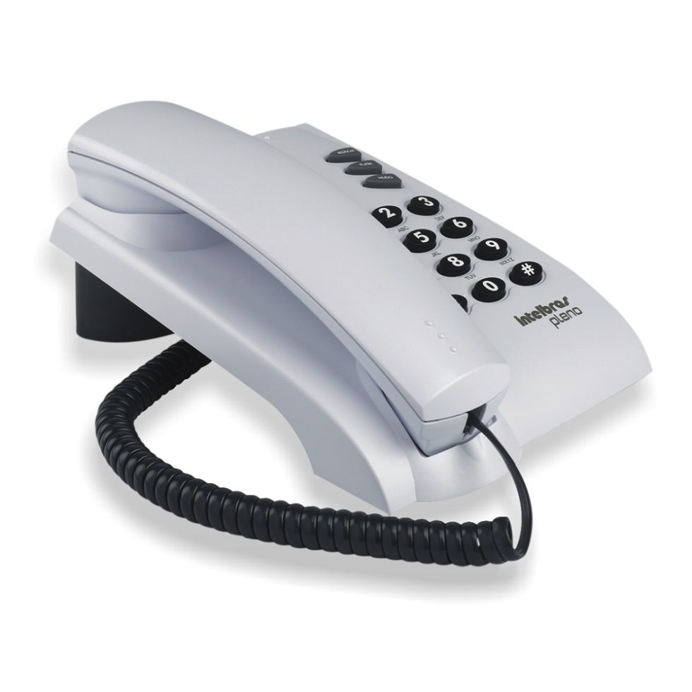 Telefone Intelbras Com Fio Pleno Cinza  - Mega Líder Informatica