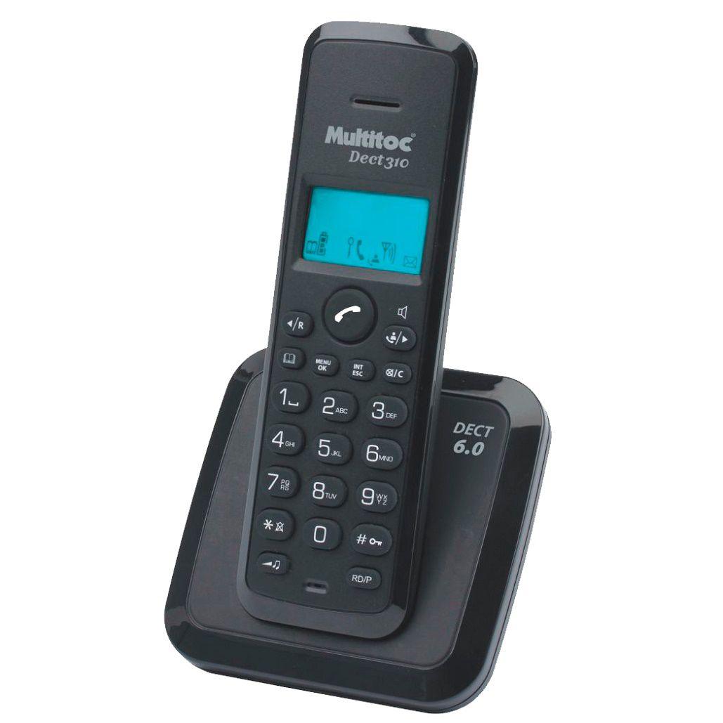 Telefone Multitoc Sem Fio Dect 310 RA Preto  - Líder Brasil Informática