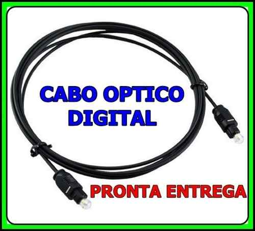 Cabo Optico Digital Toslink Game Receptor TV 02 Metros