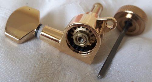 Tarraxas Com Trava Sistema Lock 6R em Linha Dourado Brilhante