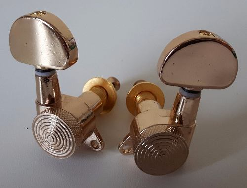 Tarraxas Com Trava Sistema Lock 3R3L Dourado Brilhante
