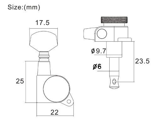 Tarraxas Com Trava Sistema Lock 3R3L Preto