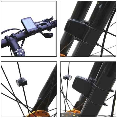 Computador de Bordo Velocímetro Para Bicicleta SUNDING 576c Sem Fio Touch