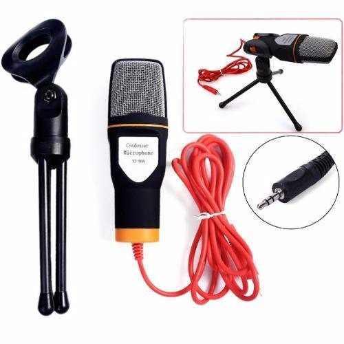 Microfone Condensador SF-666 com Extensor de 1,8m
