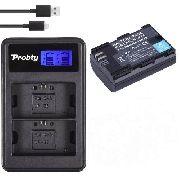 Kit 1x Bateria LPE6 2650mAh + 1x Carregador Duplo com LCD para CANON modelos LPE6
