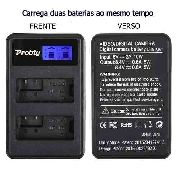 Carregador Duplo Com LCD Para Baterias CANON Modelo LPE8