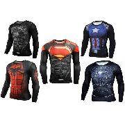 Camisa Compressão Super Herois 3D