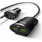 Carregador Veicular Extensor 4 Portas USB 5.1A