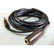 Cabo extensor P3 4 vias para headset com microfone celular notebook