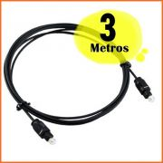 Cabo Optico Digital Toslink Game Receptor TV 03 metros
