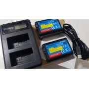 Kit 2 Baterias NP-FW50 Carregador Duplo Lcd Sony Alpha