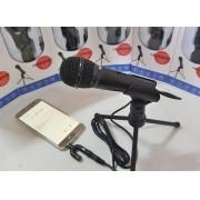 Microfone Condensador Celular KP-918 + Adap P3