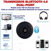 Transmissor de Áudio Bluetooth para até DOIS dispositivos bluetooth (fones ou caixas)