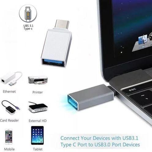 Adaptador OTG Original para Celular, Tablet´s MAC´s - TIPO C / USB