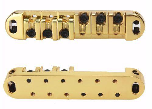 Ponte Tune O Matic Roller Dourada Para Guitarras Tipo LesPaul Sg