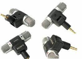 Microfone Similar Sony Ecm-ds70p Estereo + Cabo adaptador P2 para GoPro 3, 3+, 4 e SJ6 + Cabo Extensor de 1,8m